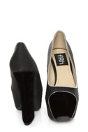 Fahrenheit Anne 41 Black Velvet Cap-Toe Platform Heels