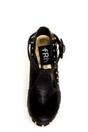 Fahrenheit Bar 05 Black Studded T-Strap Platform Heels