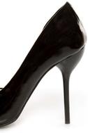 Fahrenheit Zara 01 Black Patent Pointed D\\\'Orsay Pumps