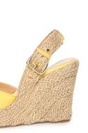 GoMax Moki 08 Yellow Canvas Espadrille Wedge Sandals