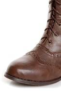 Break 3 Brown Brogue Lace-Up Oxford Boots