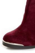 MTNG Fullu Aquila Burgundy Studded Ankle Boots