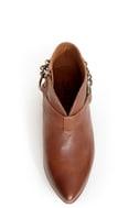 Sixtyseven Enrica Viriato Chestnut Winklepicker Ankle Boots