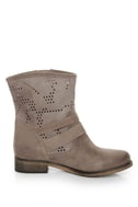 MTNG Hydra Wax Grey Suede Perforated Ankle Boots