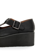 MTNG Petra Paris Black T-Strap Mary Jane Platforms