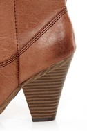 Madden Girl Snappiee Cognac Burnished Cowboy Boots