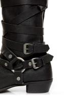 Naughty Monkey Desperado Black Belted Motorcycle Boots