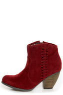 O\\\\\\\\\\\\\\\'Neill Raleigh Garnet Red Side-Stitched Ankle Booties