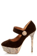 Promise Marciana Chocolate Snake Print Mary Jane Platform Pumps