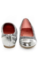 Promise Montreal Grey Sparkle Tweed Cap-Toe Flats