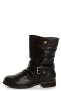 Promise Wichita Black Belted Motorcycle Boots
