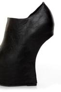 Privileged Keaton Black Shootie Heelless Platforms