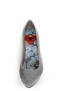 Rocket Dog Chamay Grey Watered Silk Pointed Flats