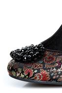 Rocket Dog Ophelia Black Opera Brocade Beaded Heels