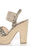 Rebels Ursula Leopard Print Platform Espadrille Sandals