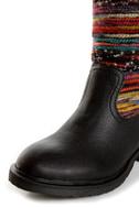 Sbicca El Dorado Black Multi Striped Riding Boots
