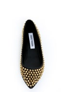 Steve Madden Extraa Black Gold Studded Pointed Flats