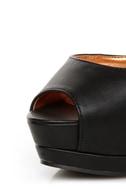 Shoe Republic LA Catarina Black Ankle Strap Platform Heels