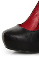 Shoe Republic LA Volta Black Spiked and Studded Platform Pumps