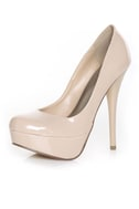 Speed Limit 98 Jones Dark Beige Patent Platform Pumps