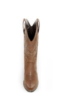 Raspy Taupe Embroidered Cowboy Boots