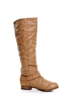 Wild Diva Tosca 01A Camel Knee High Riding Boots