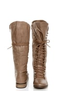 Yoki Deci 2 Beige Lace-Up Riding Boots