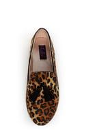 Yoki Frida Leopard Print Tassel Smoking Slipper Flats
