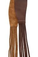 Waist Land Brown Fringe Leather Belt