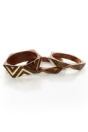 Angle of the Morning Brown and Gold Bangle Set