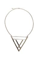 Tri Me Silver Triangle Necklace