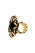 Black Hole Sun Black and Gold Ring