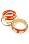 Press Play Orange Bangle Set