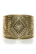Fortunate Sun Gold Cuff Bracelet