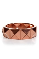 On the Facet Track Rose Gold Cuff Bracelet