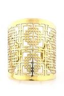 Zad Laser Power Gold Cuff
