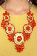 Zad Neptune\'s Treasure Coral Red Necklace