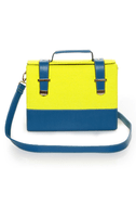 Steady As She Glows Neon Yellow and Blue Purse