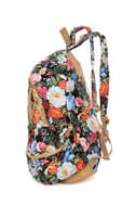 Right Pack At You Black Floral Print Backpack