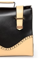 Hop a Flight Black and Beige Purse