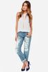 Blank NYC The Galaxy Distressed Straight Leg Jeans at Lulus.com!