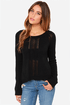BB Dakota Lana Cropped Black Sweater at Lulus.com!