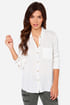 Obey Just Kids Ivory Button-Up Top at Lulus.com!