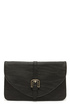 Buckle Down Black Clutch at Lulus.com!