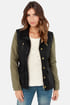 Obey Hearst Convertible Olive and Black Jacket
