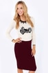 Getting Haute in Here Burgundy Pencil Skirt