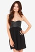 Billabong Somewhere Outback Strapless Black Bustier Dress