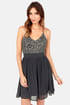 Stellar Starlight Grey Sequin Dress