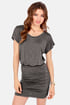Ruches with Fame Grey Dress