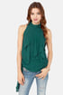 Ruffle Road Sleeveless Hunter Green Top